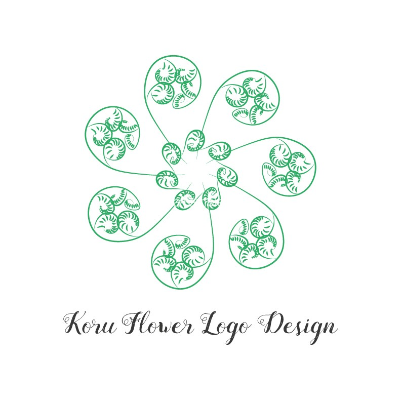 Koru-flower-logo-design