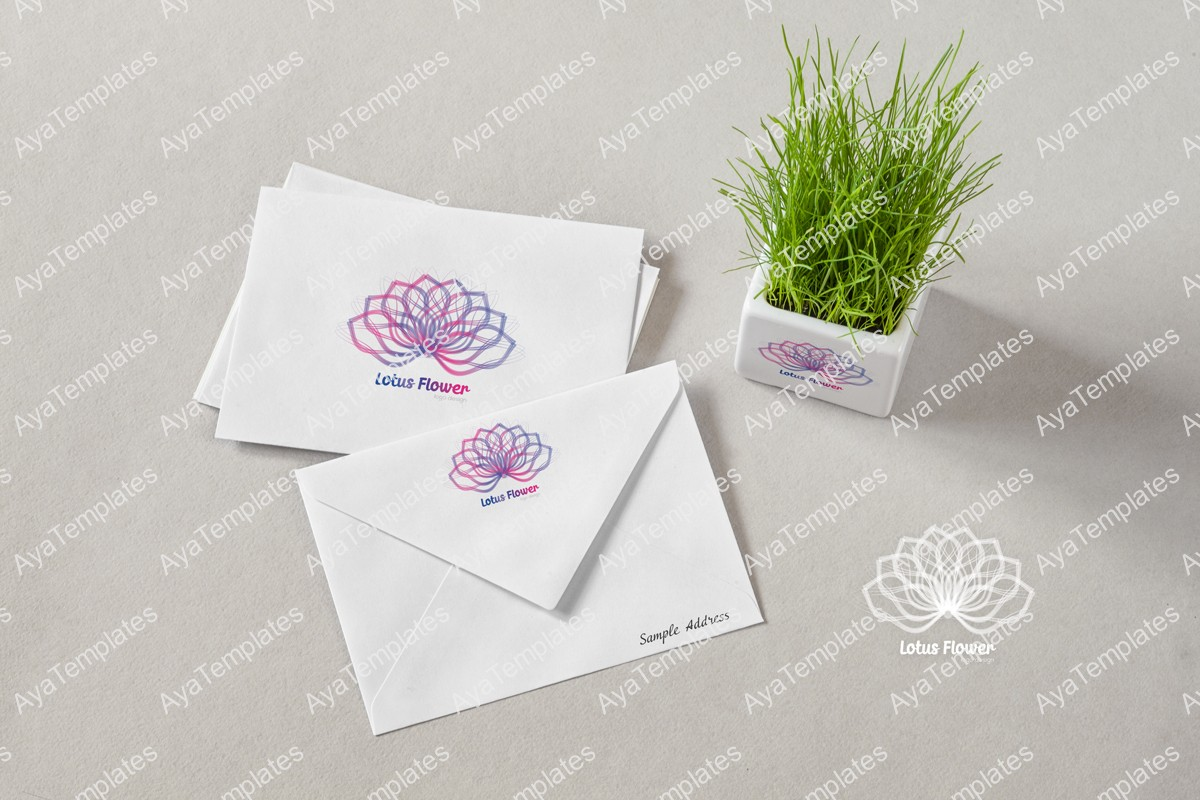 Lotus-flower-logo-branding-design-mockup-ayatemplates