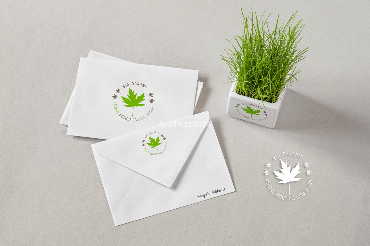Natural-Cosmetics-logo-and-brand-identity-design---mockup---ayatemplates