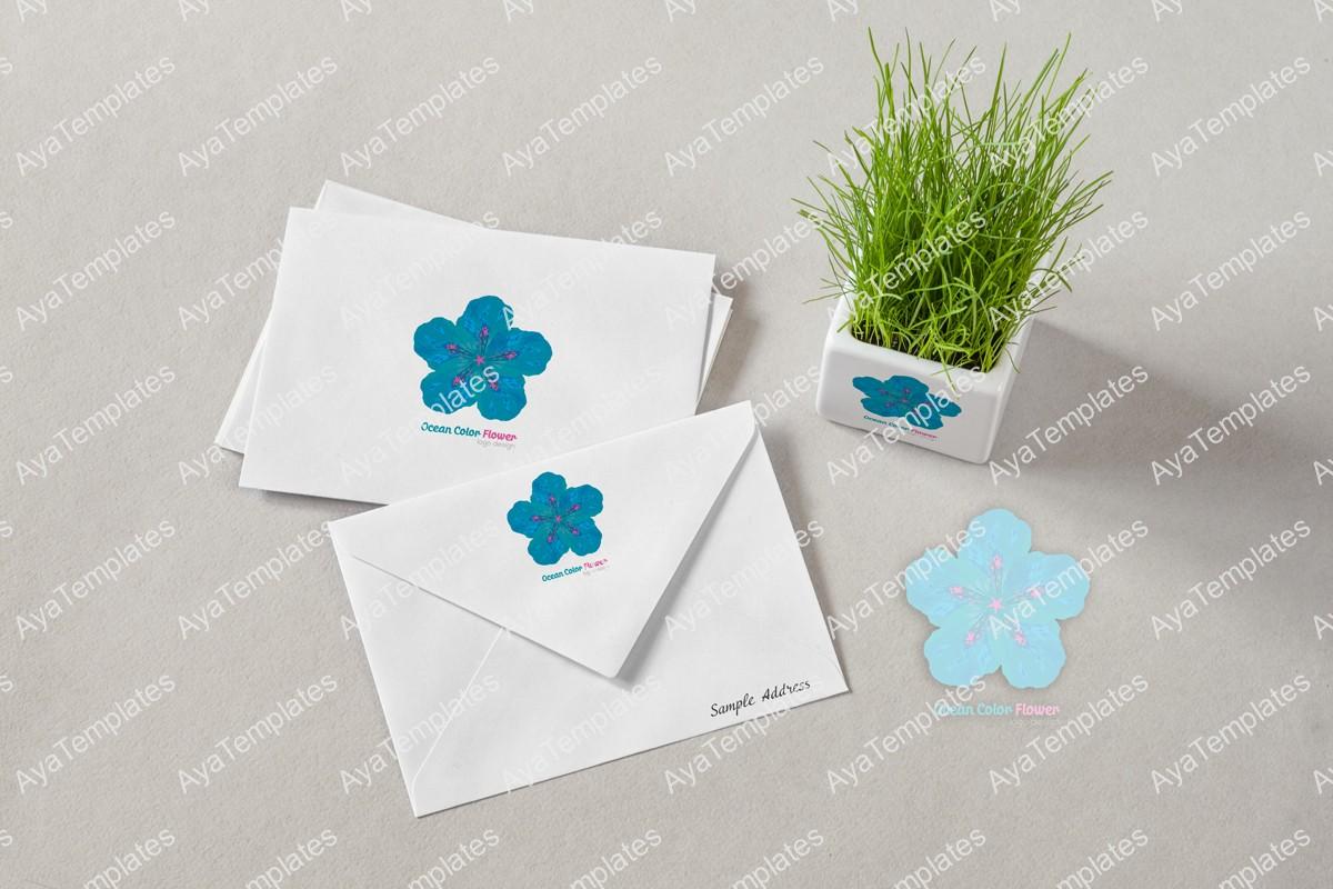 Ocean-color-flower-logo-design-brand-mockup-ayatemplates
