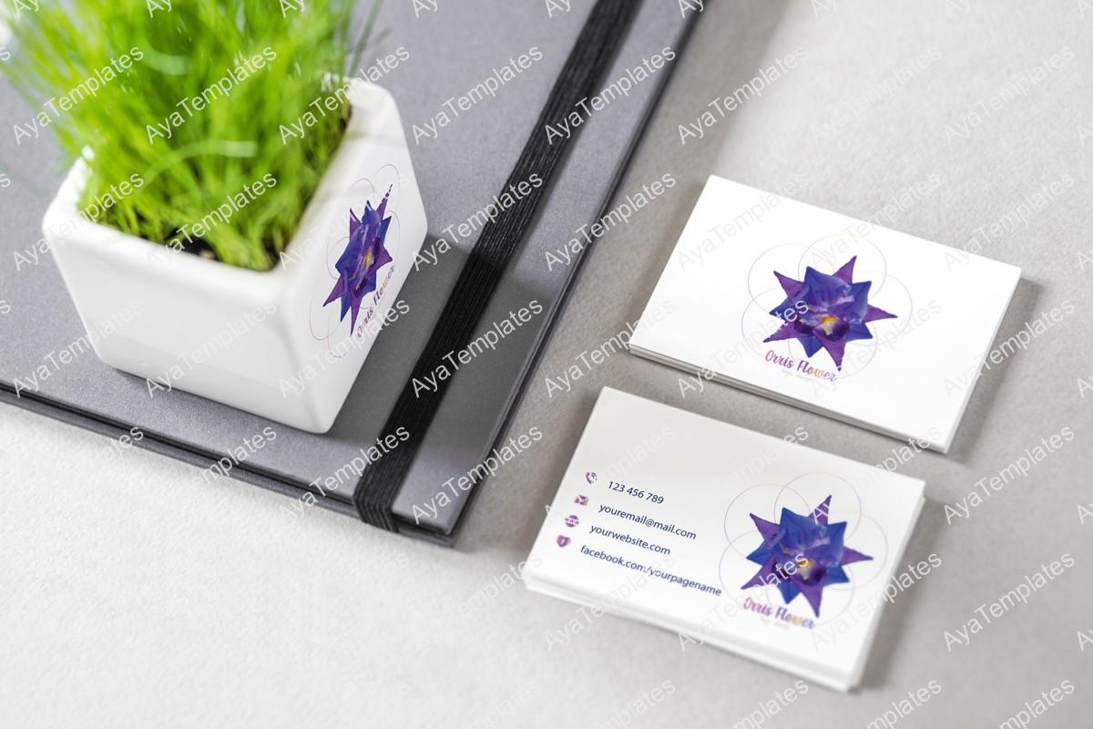 Orris-flower-logo-design-branding-mockup-ayatemplates