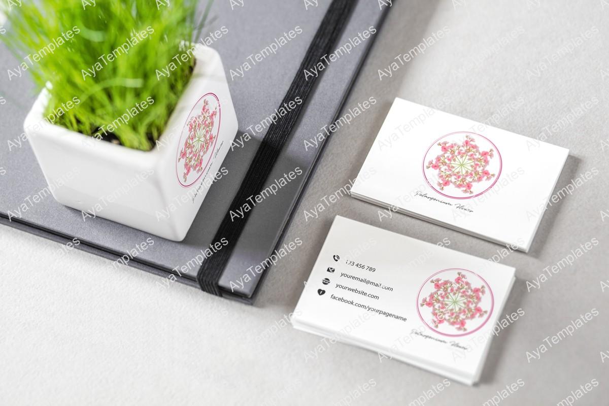 Pelargonium-flower-logo-design-branding-mockup-ayatemplates