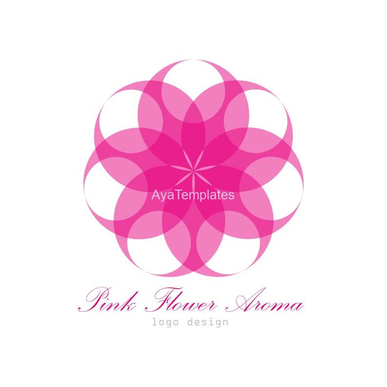Pink-Flower-Aroma-logo-design