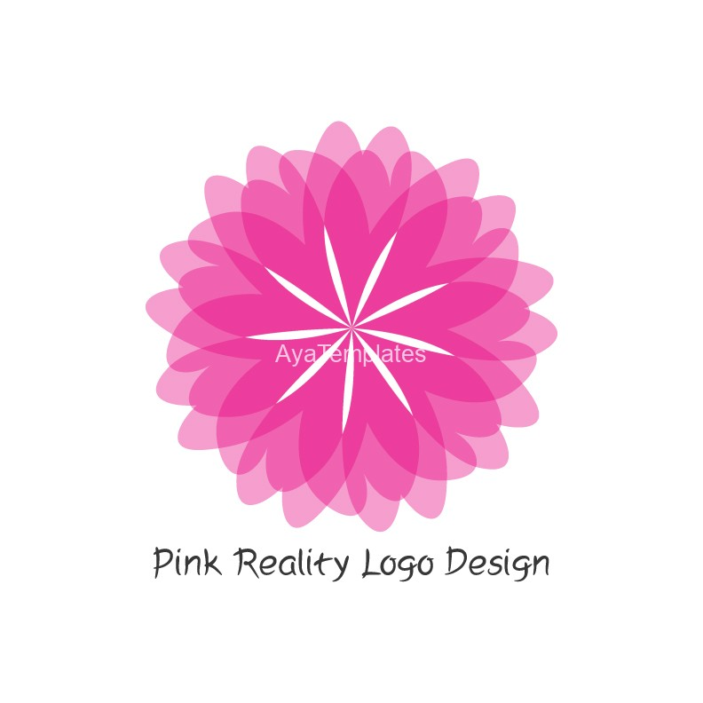 Pink-Reality-logo-design