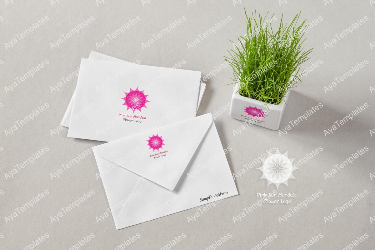 Pink-Sun-Mandala-logo-design-brand-identity-mockup1-ayatemplates