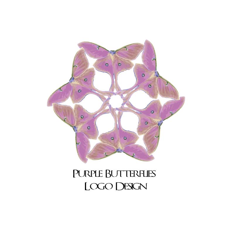 Purple-Butterflies-Logo-Design