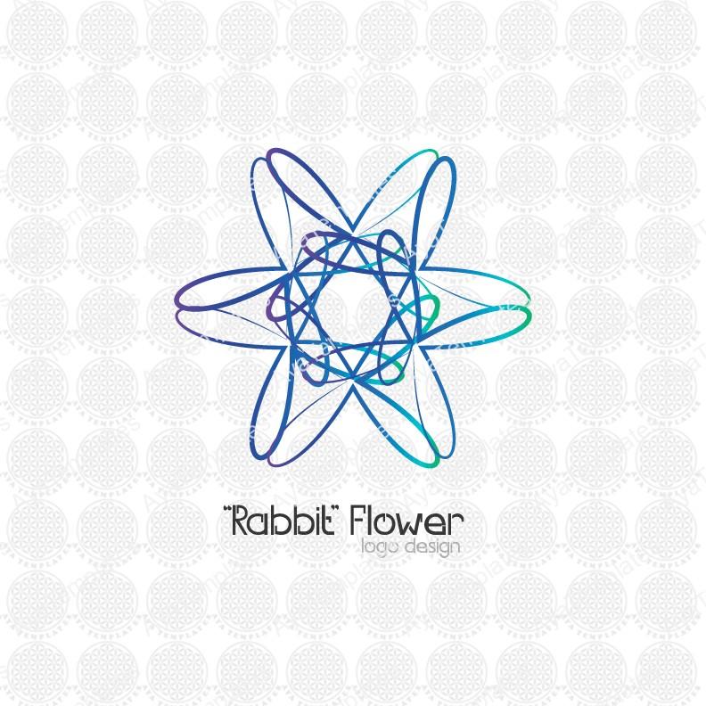 Rabbit-flower-logo-design