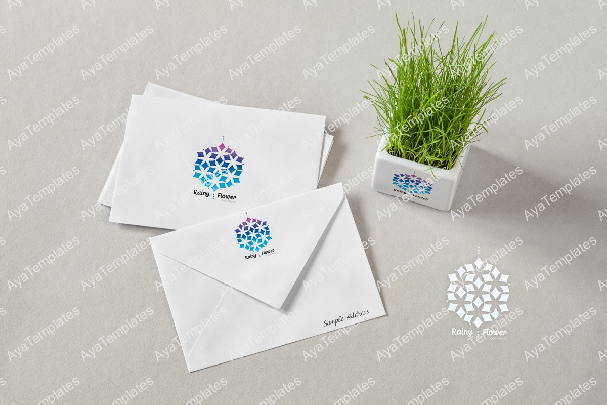 Rainy-Flower-logo-brand-mockup-ayatemplates