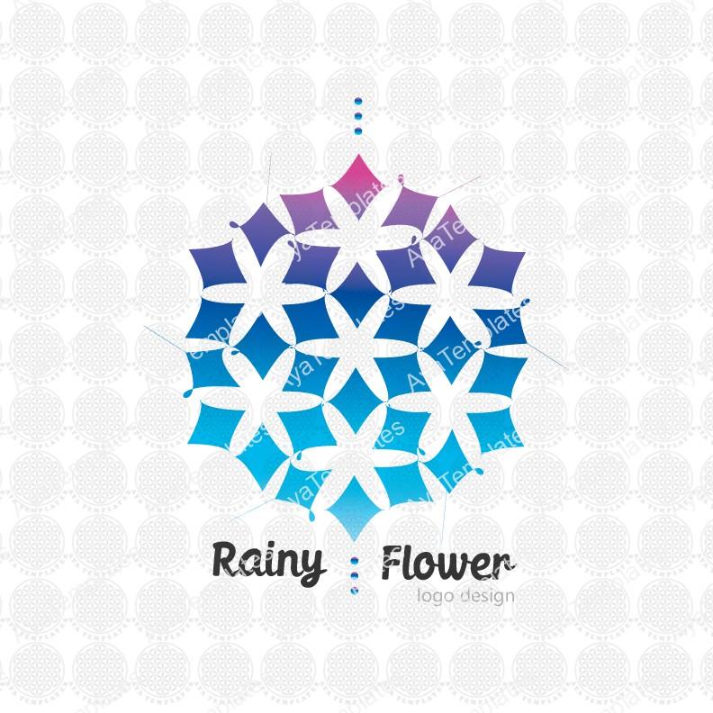Rainy-Flower-logo-design
