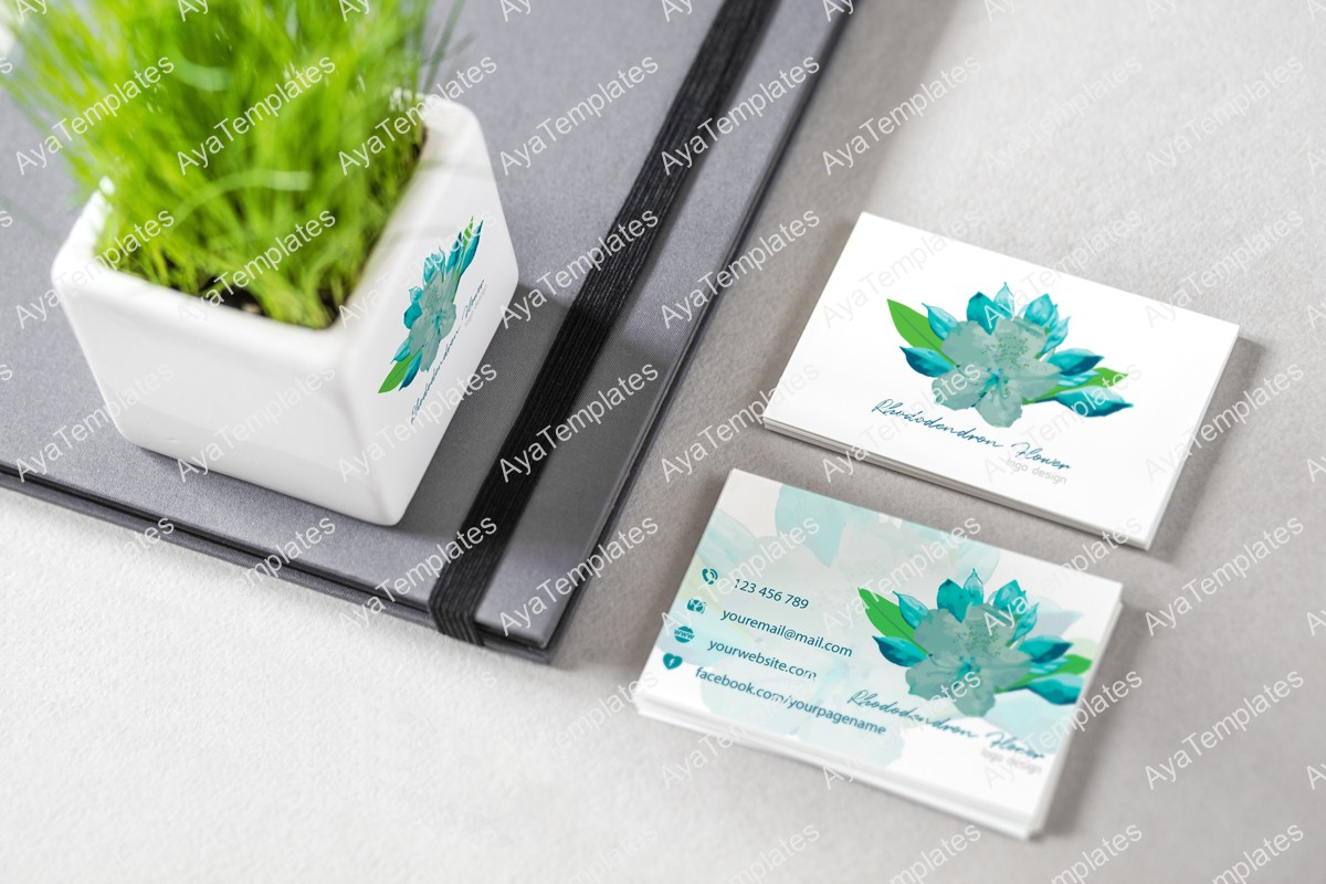 Rhododendron-flower-logo-design-brand-mockup-ayatemplates