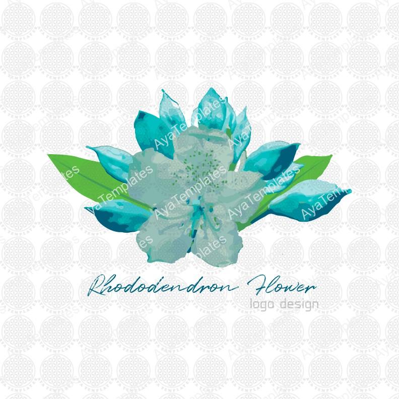 Rhododendron-flower-logo-design