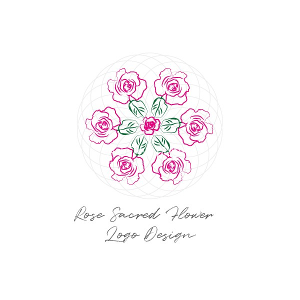 Rose-Sacred-Flower-logo-design