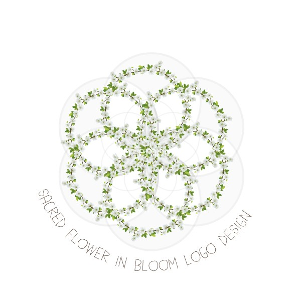 Sacred-Flower-in-bloom-logo-design