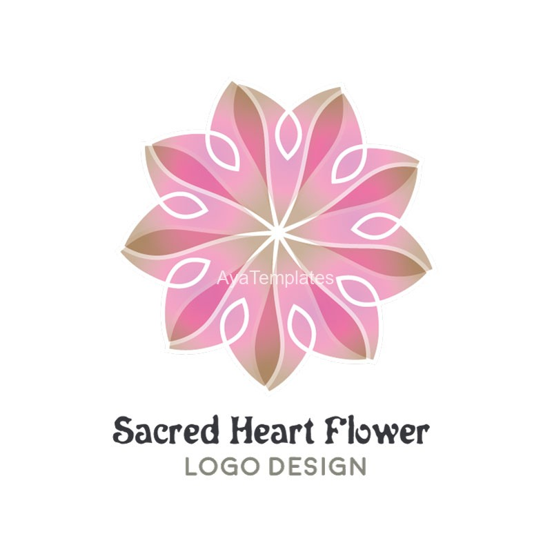 Sacred-Heart-Flower-Logo-Design1