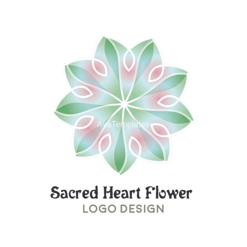 Sacred-Heart-Flower-Logo-Design2