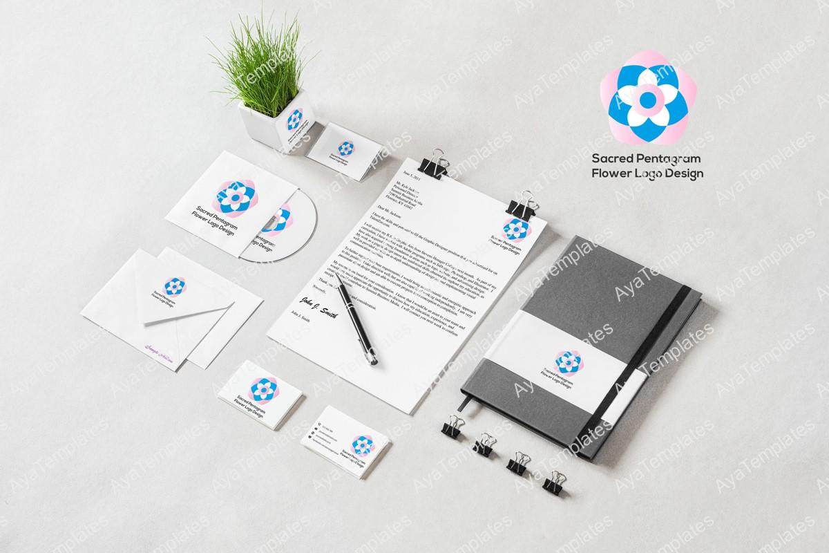 Sacred-Pentagram-Flower-Logo-Design-logo-and-brand-identity-design-mockup3