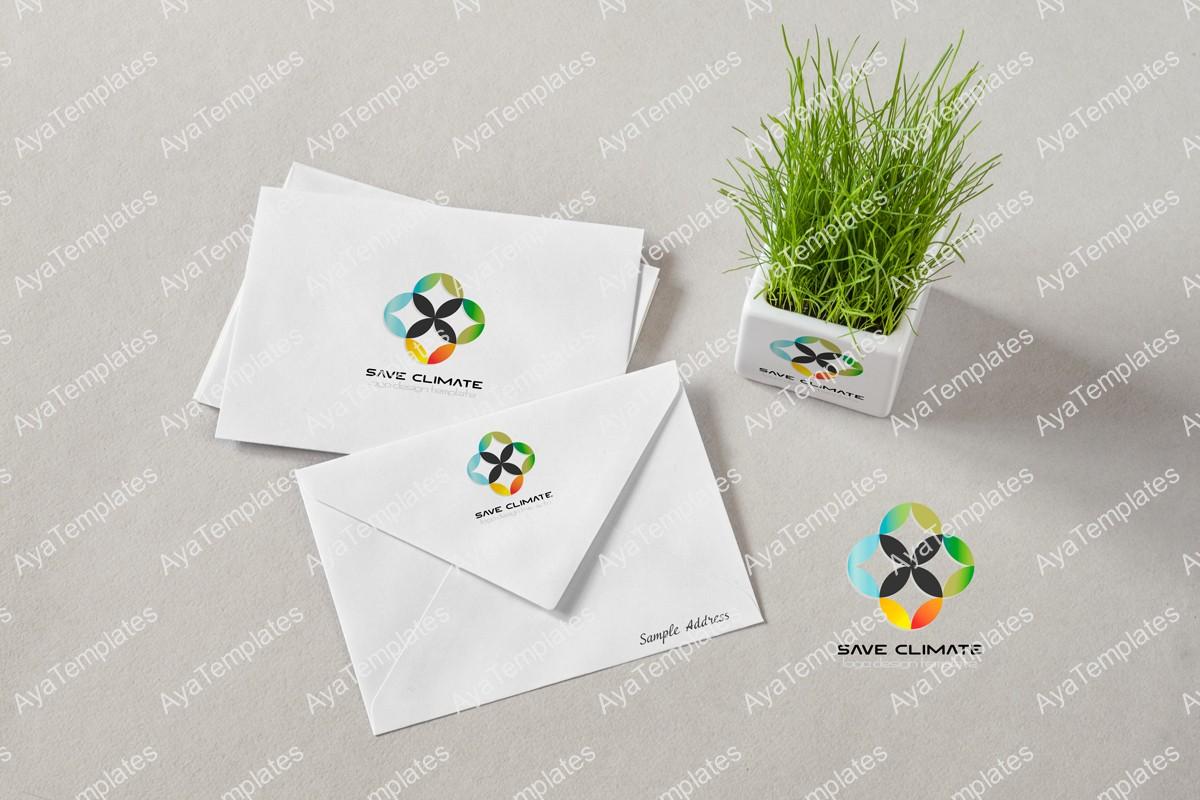 Save-climate-logo-design-brand-identity-mockup-ayatemplates