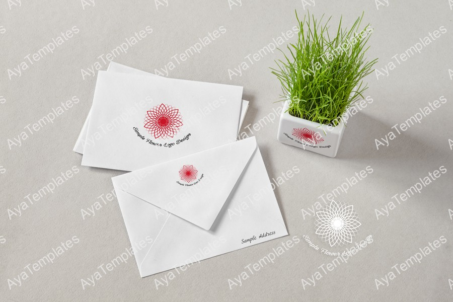 Simple-flower-logo-design-branding-mockup-ayatemplates
