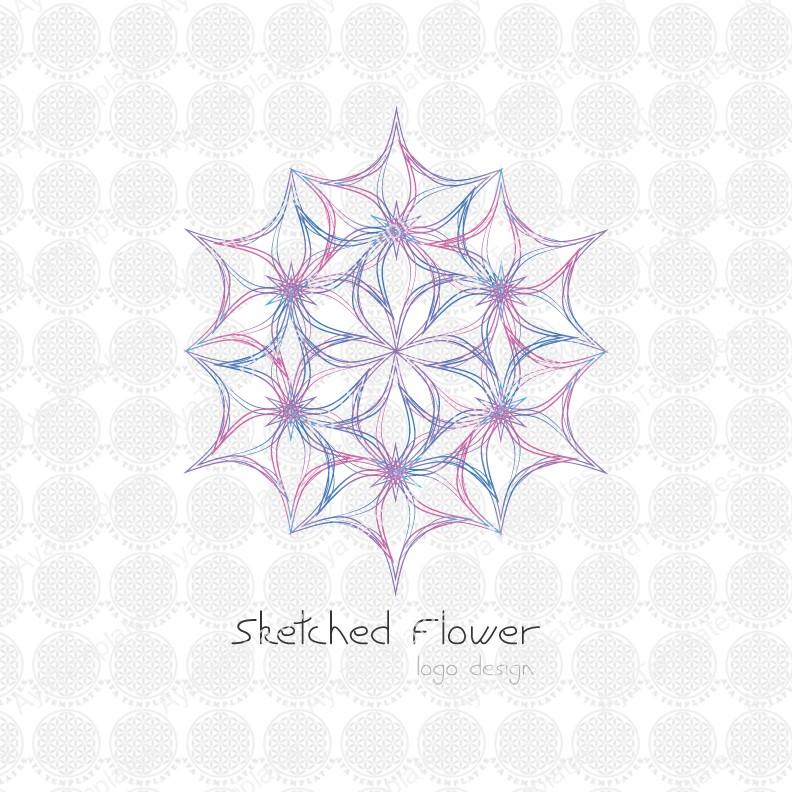 Sketched-Flower-logo-design