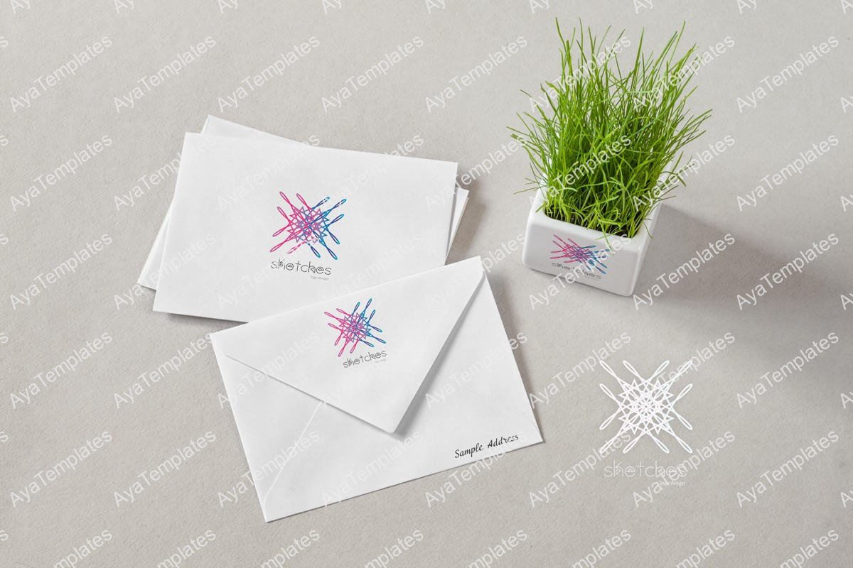 Sketches-logo-design-branding-mockup-ayatemplates