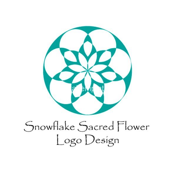 Snowflake-sacred-flower-logo-design-aya-templates