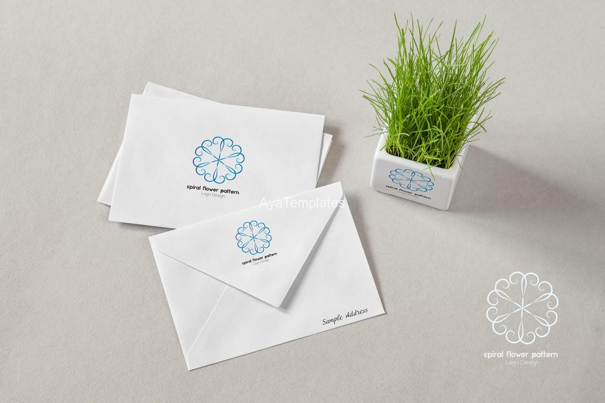 Spiral-Flower-Pattern-logo-design