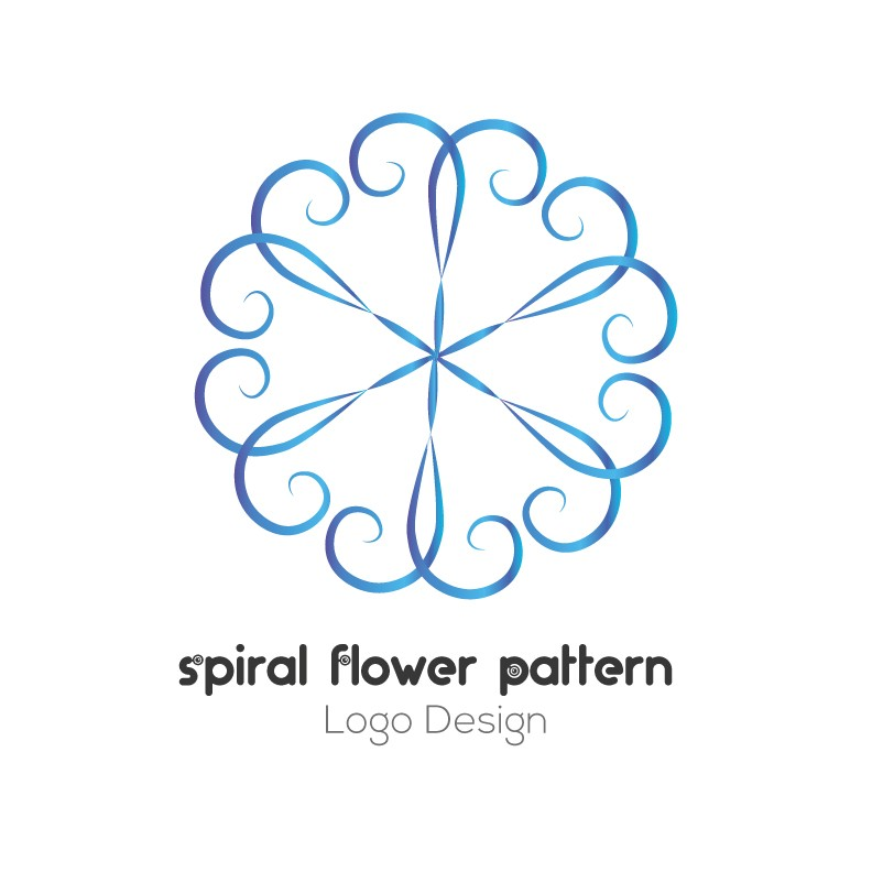 Spiral-flower-pattern-logo-design
