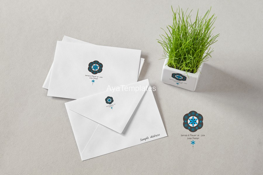 Spirals-flower-of-life-logo-design-branding-mockup-ayatemplates