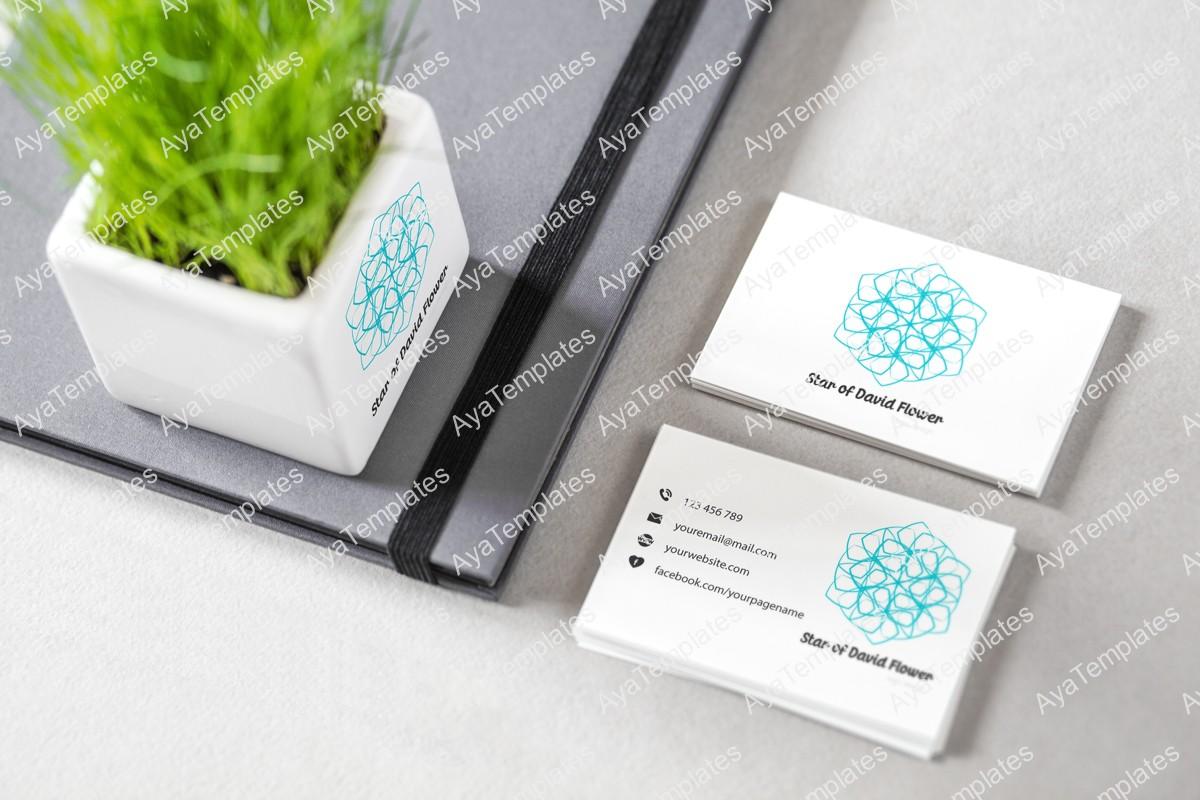 Star-of-David-flower-logo-design-brand-identity-mockup-ayatemplates