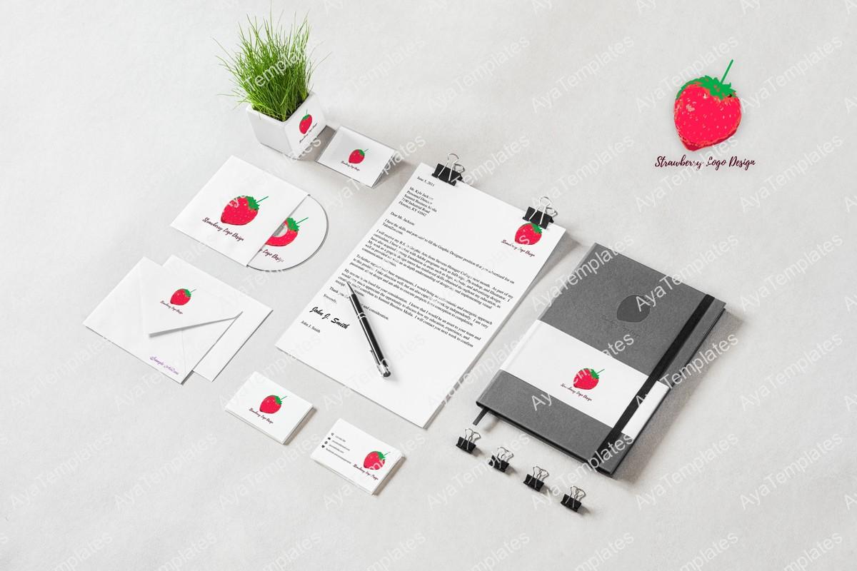 Strawberry-logo-design-brand-identity-mockup-ayatemplates