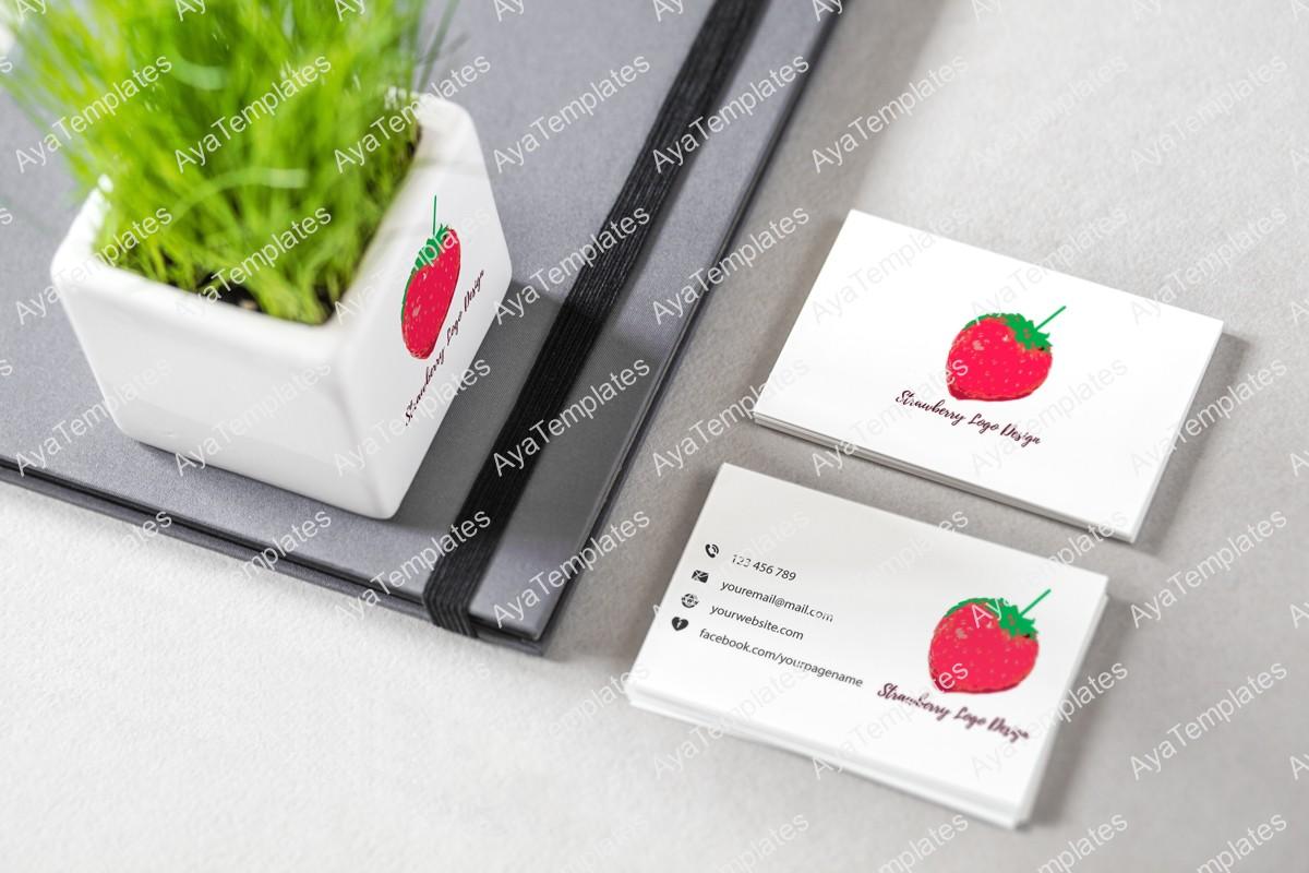 Strawberry-logo-design-branding-mockup-ayatemplates
