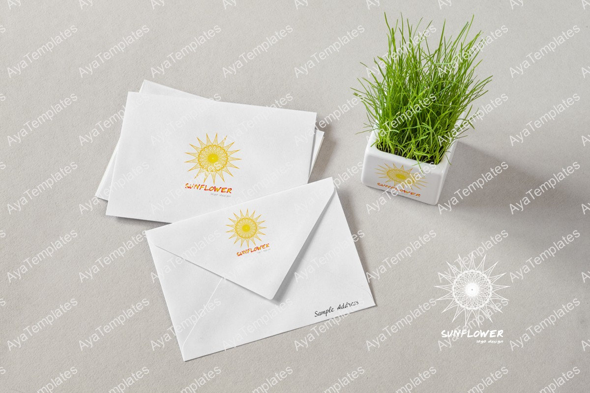 Sunflower-logo-brand-identity-design-mockup-ayatemplates
