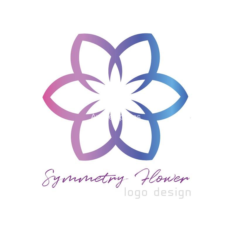 Symmetry-Flower-logo-design