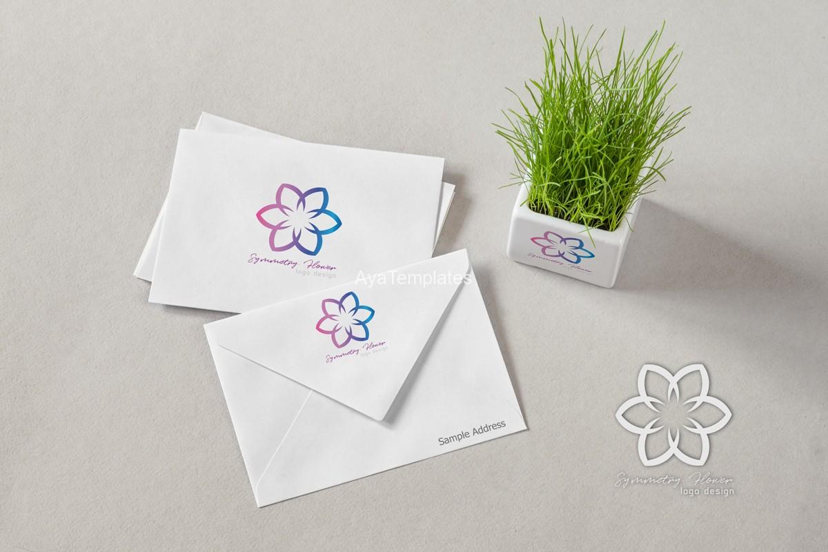 Symmetry-flower-logo-design-brand-identity-mockup-ayatemplates