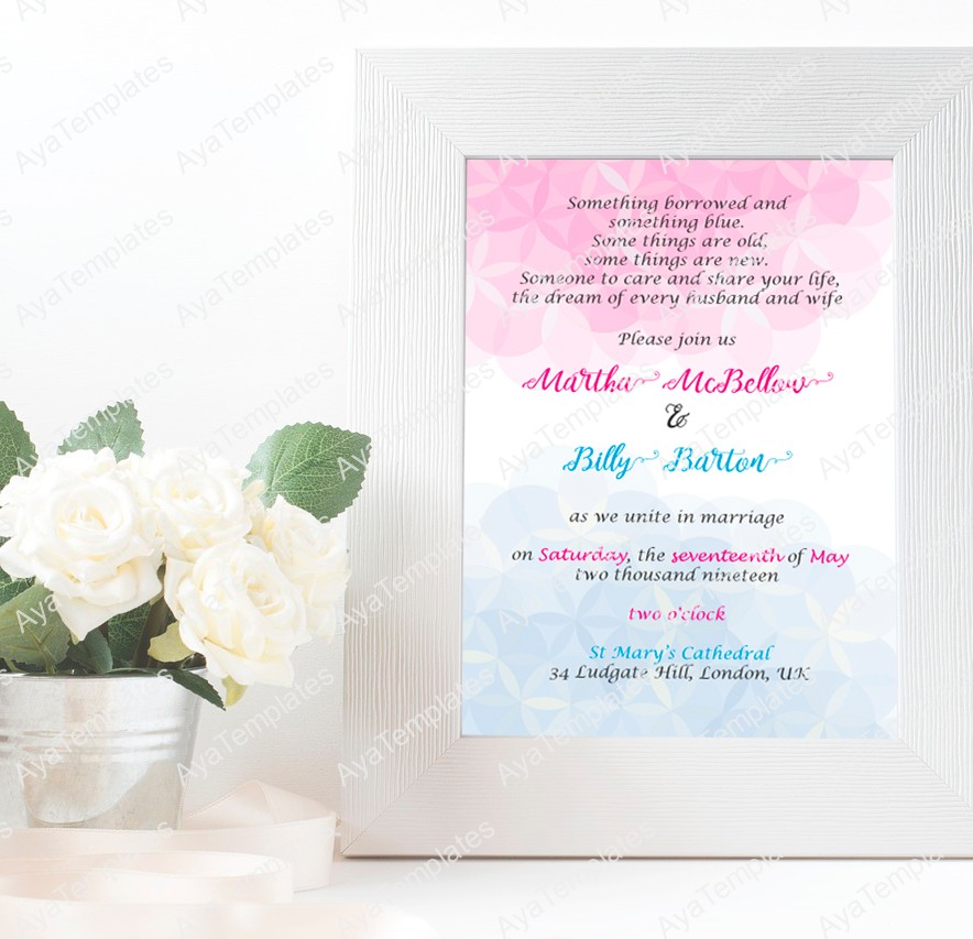 Wedding Invitation Card Template Flower Of Life