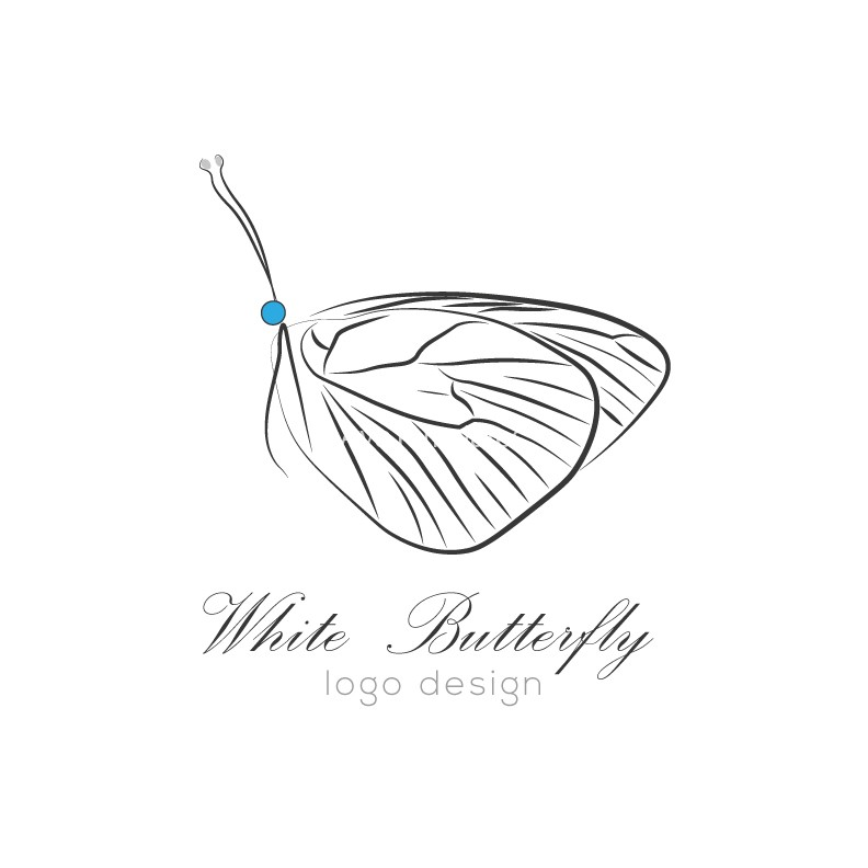 White-Butterfly-logo-design