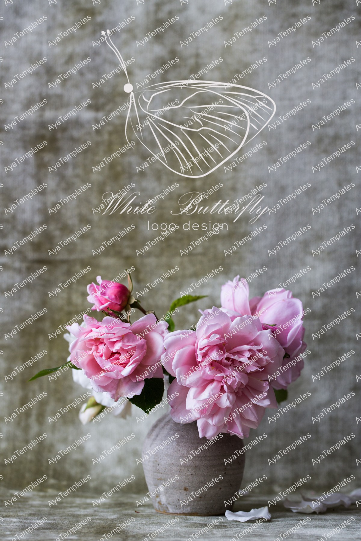 White-butterfly-logo-mockup