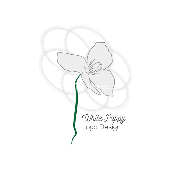 White-poppy--logo-design