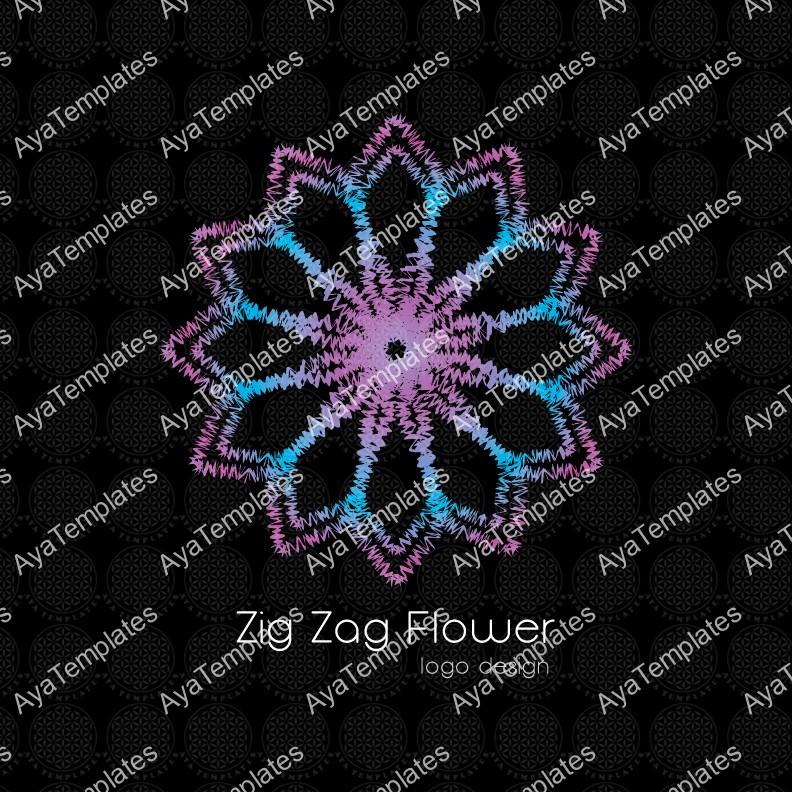 Zig-Zag-Flower-logo-design