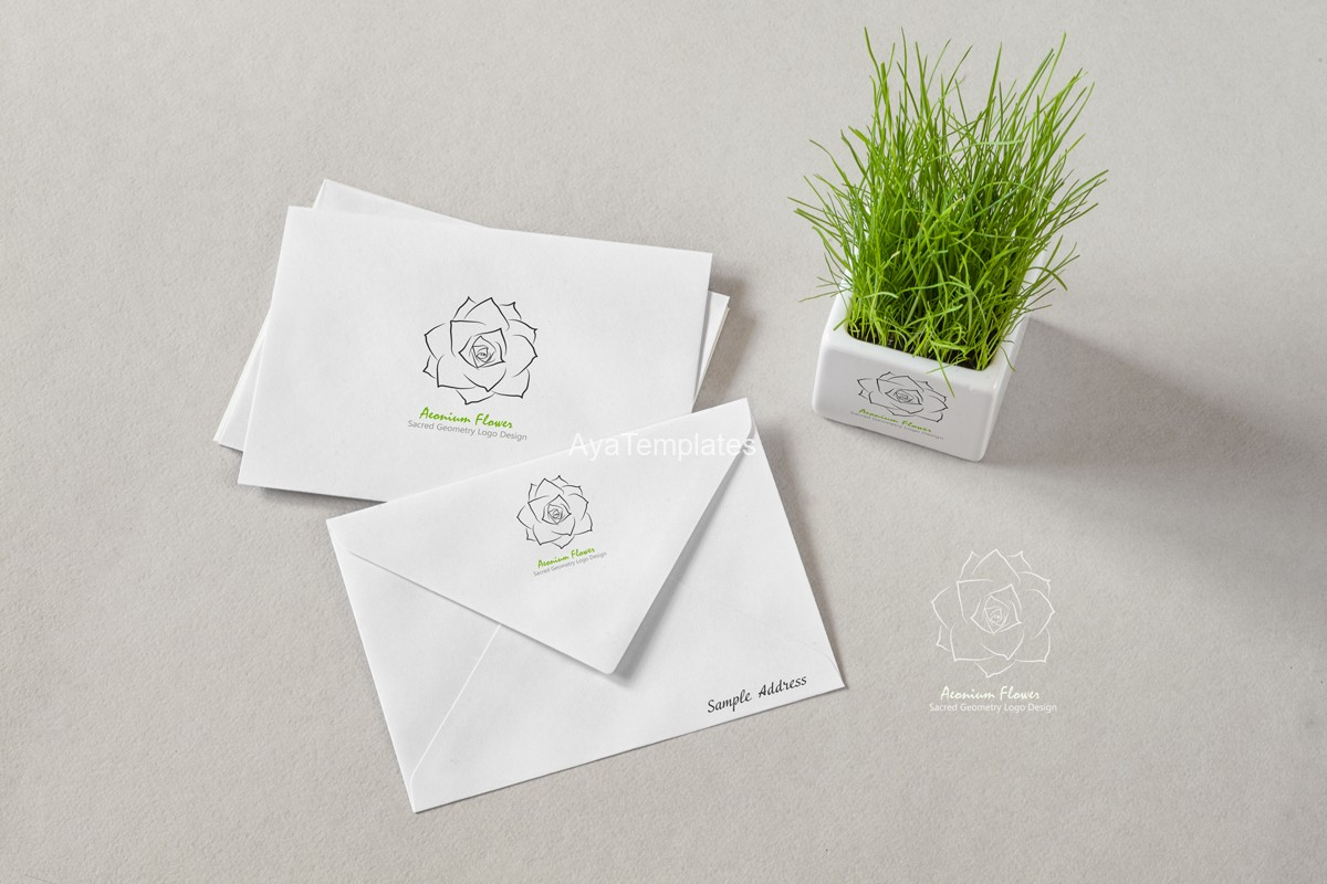aeonium-flower-logo-design-and-brand-identity-mockup-ayatemplates