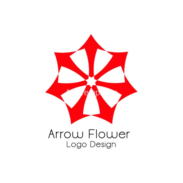 arrow-flower-logo-design-aya-templates
