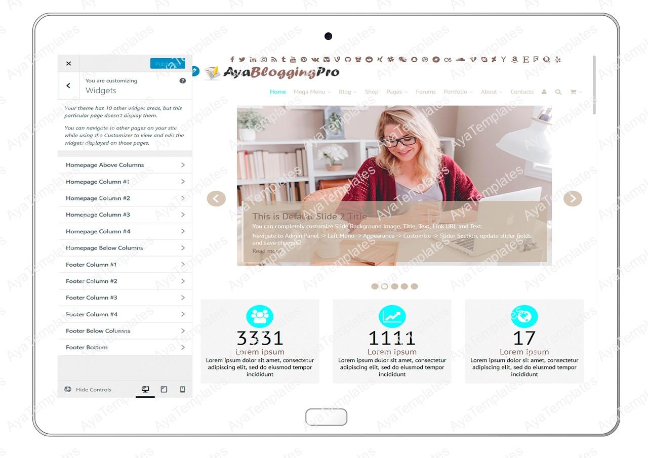 ayabloggingpro-customize-widgets