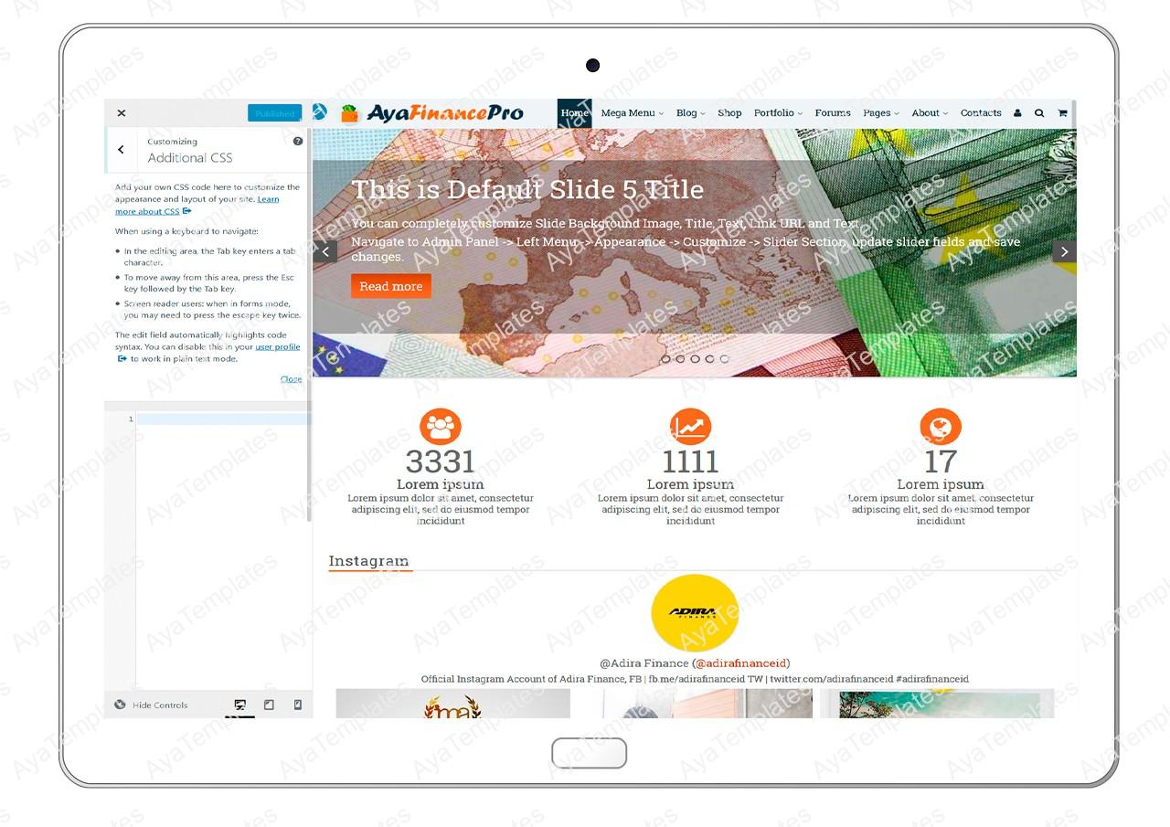 ayafinancepro-customizing-additional-css