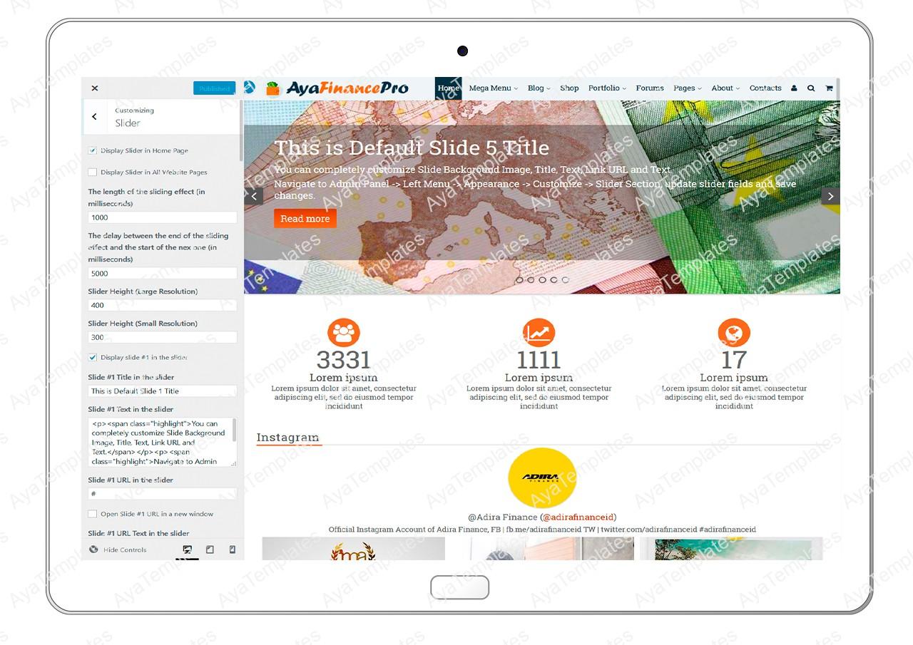 ayafinancepro-customizing-slider