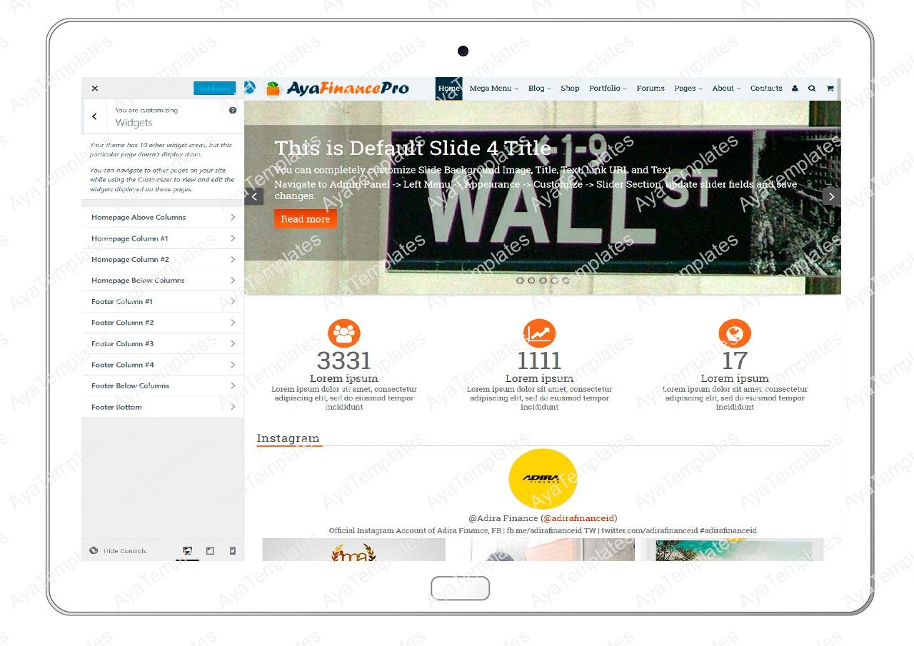 ayafinancepro-customizing-widgets