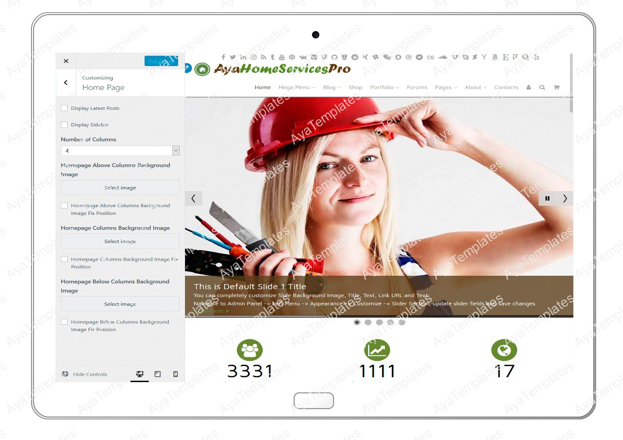 ayahomeservicespro-customizing-homepage