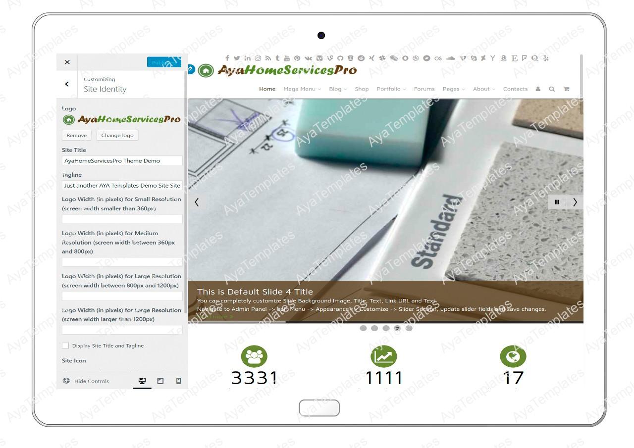 ayahomeservicespro-customizing-site-identity