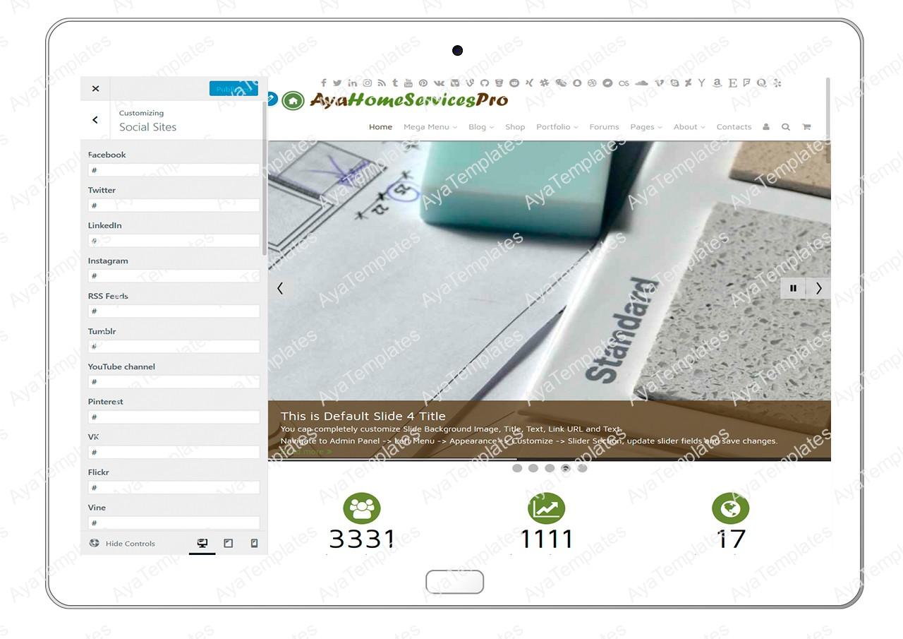ayahomeservicespro-customizing-social-sites