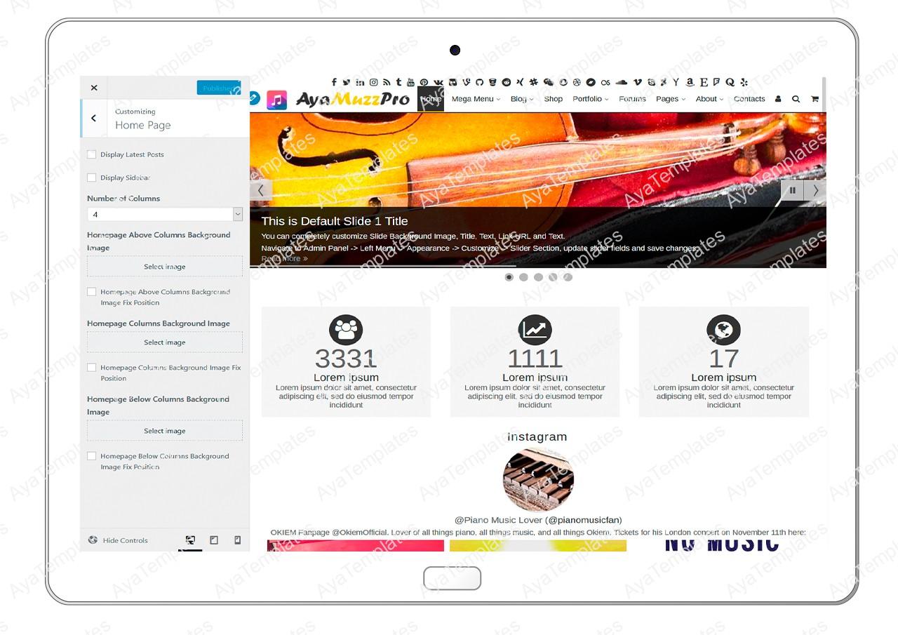 ayamuzzpro-customizing-homepage