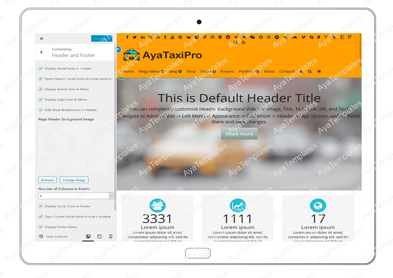 ayataxipro-customizing-header-and-footer1